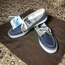 Sperry Top Sider Boat Shoes Blue, White, Men's 10M