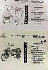 Notice d'utilisation carnet d'entretien PEUGEOT Jet-Force H2i Jet-C-Tech scooter