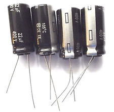 22uf 400v 105c LOW ESR Size 12.5mmx25mm Panasonic EEUEE2G220 High Ripple x4pcs