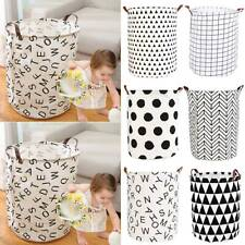 Foldable Large Storage Laundry Hamper Dirty Clothes Basket Cotton Washing Bag US