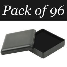 96x Negro Joyero Almacenamiento Pendientes de presentación de Regalo Collar W almohadilla de espuma