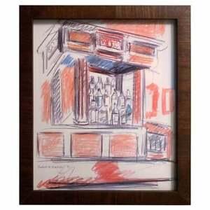 Robert DeNiro Sr. Iconic Maxwell Mahogany Bar Sketch