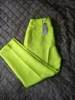 Nwts RIVER ISLAND YELLOW CIGARETTE TROUSERS SIZE 10R