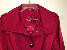 Women Guess Trench Coat Hot Pink Sangria MM