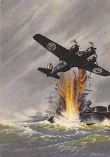 C3831) AVIAZIONE WW2 ARMA AERONAUTICA, SAVOIA MARCHETTI S79 BOMBARDA NAVE.