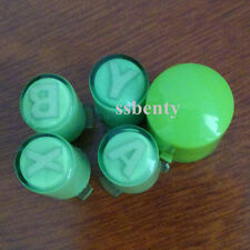 Xbox 360 Controller Green Color ABXY Guide Buttons set for repair Mod kit DIY
