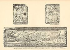 1881- 2  litho ( s. kensington museum ) bas relief marble . female  saint  1450