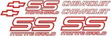 87/88 CHEVY MONTE CARLO SS DECALS With Extra pieces  vinyl printed Graphic