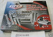 ***NEW*** Viper Tool Storage 63PC Piece Ratchet and Socket Set (VT63RSS)
