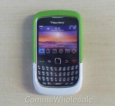 Original Blackberry acc-32920-202 Verde/blanco Premium Piel 9330 8520 9300 Curve