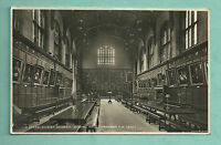 C1920'S RP POSTCARD CHRIST CHURCH COLLEGE DINING HALL OXFORD