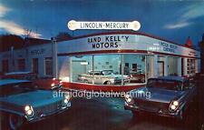 Photo 1950s. Stamford, CT. Rand Kelley Motors, Lincoln-Mercury - Auto Dealership
