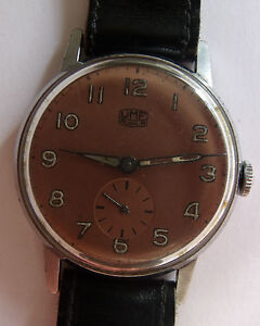 UMF/RUHLA-- OPEN FACE MAN'S  WATCH - GERMANY 1950's