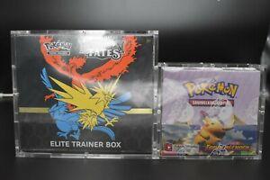 Pokemon Acryl Case Schutzbox für Top Elite Trainer Box ETB   zB Evolutions   OVP
