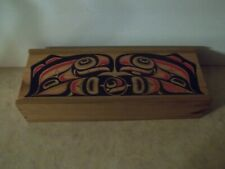 Haida Style Wooden Box with Slide Lid