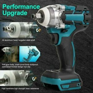 Electric Impact Wrench Gun 1/2'' Driver 520Nm 18V Torque Impact Wrench Cordless