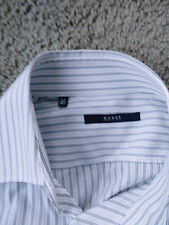 Gucci Men designer Long Sleeve Shirt-Double Button Cuff -Spread Collar -16.5 (42