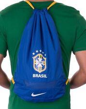 Nike Team Brasil Soccer Lightweight Drawstring Gym Bag Blue Color NEW