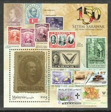 MALAYSIA 2019 150 YEARS SARAWAK STAMPS SOS SOUVENIR SHEET OF 1 STAMP IN MINT MNH