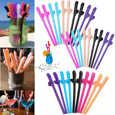 10pcs Penis Drinking Straw Sex Toy Hen Night Bachelorette Party Favor Decoration