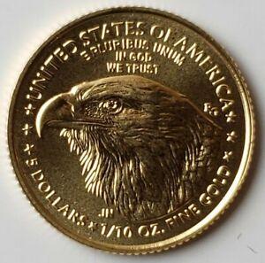 2021 $5 1/10oz Gold American Eagle Type 2