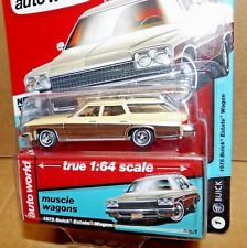 1975 Buick Estate Wagon Diecast Car 1:64 Auto World Muscle 3inch Tan Beige 64182