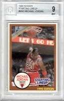 1990 KENNER STARTING LINEUP MICHEAL JORDAN BROWN SLU BECKETT BGS 9 Mint Nike Air
