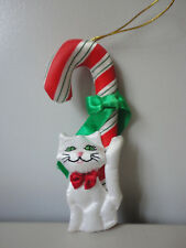 Fancy Feast Christmas Kitty Cat Candy Cane Ornament By Russ
