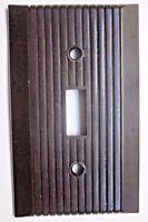 Vintage Monowatt Snap Break-Off Wall Switch Cover Plate Brown Bakelite Ribbed