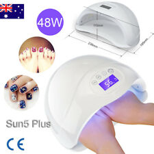 2019 Sun5plus LED UV Nail Lamp Light 2 Hands GEL Polish Dryer Art Curing AU Plug
