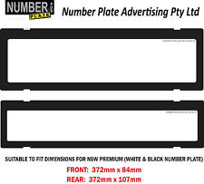Number Plate Cover NSW Premium - Clip On - No Lines