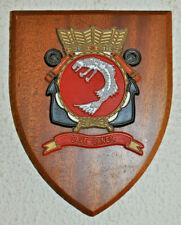 Hr Ms Zeehond plaque shield crest Dutch Navy Netherlands gedenkplaat HNLMS