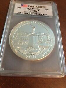 2011 Gettysburg Silver ATB 5 Oz PCGS First Strike MS69PL