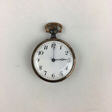 Antique Base Metal & Rose Gold Plated Fob Watch Not Working 3cm Diameter