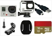 Used GoPro HERO 3 White 1080P 5MP HD Sport Camera waterproof Case 16G Card Wi-Fi