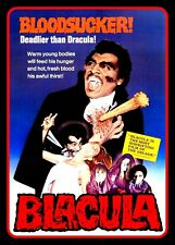 "5"" BLACULA movie monster vinyl sticker. Blaxploitation Vampire, Dracula decal."