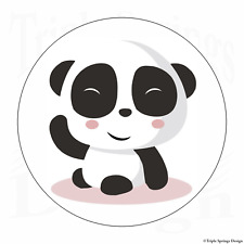 "60 Panda Bear Funny Cute Vinyl Envelope Seals Label Stickers 1.2"" Round."