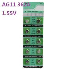 10X Batteries AG11 L721 LR58 362A SR58 Coin Button Cell Battery Watch camera