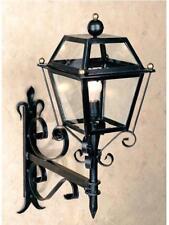 LANTERNA LAMPIONE LAMPADA APPLIQUE POMOLO A CATENA IN FERRO BATTUTO