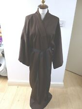 vintage  Oriental brown textured unlined  kimono gown/robe & belt  one size