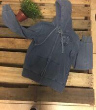 Mens Vintage Aeropostale Hoodie Full Zip Vintage Blue Sweater Jacket Size XL