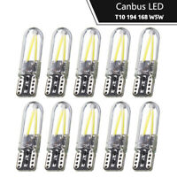 10x COB 8SMD T10 W5W 168 194 501 Silicone LED Car Interior Side Lights Bulbs Kit