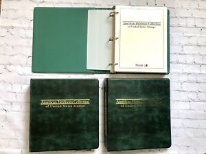 Mystic American Heirloom Collection of United States Stamps Binders Vol 1 2 3