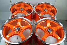 17 orange Wheels Rims Mazda 3 5 6 Soul Impreza Matrix Civic Accord 5x100 5x114.3