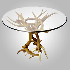 REAL ANTLER MULE DEER/WHITETAIL END TABLE BASE, RUSTIC LIGHTING, CHANDELIER LAMP