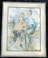 Phyllis Darch Curtis (United States, 1909 - 2003) 1964 Watercolor of Couple