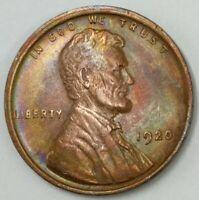 AU - 1920 - P - US Lincoln Wheat Cent - Gorgeous Rainbow Toning (Q374)