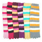 6 Pairs Ultra Plush Toe Socks Soft Fuzzy Winter Warm Women Girls Large Size 9-11