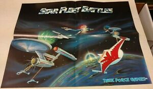 STAR TREK: STAR FLEET BATTLES PROMO POSTER, TASK FORCE GAMES, 16 X 20, RARE!