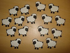 16 QUICKUTZ DIE CUT SHEEP / LAMBS - BLACK & WHITE - READY ASSEMBLED